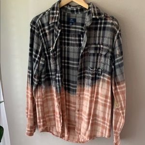 Bleached & destroyed flannel